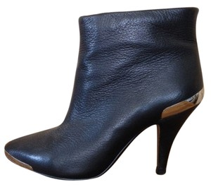 Jeffrey Campbell Leather Gold Hardware Bootie Black Boots