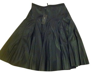 BCBG Max Azria Faux Leather Skirt Black