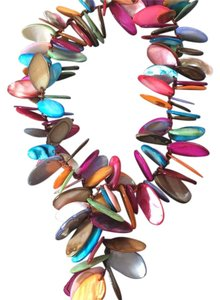 NK colorful Necklace 18 In Mop Color shell necklace unique