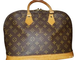 Louis Vuitton #monogram #leather #vintage Satchel in Brown