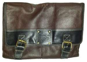 Fossil Leather Brown Messenger Bag