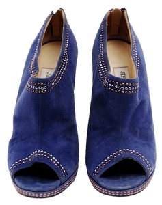Jimmy Choo Suede Ankle Pumps Blue Boots
