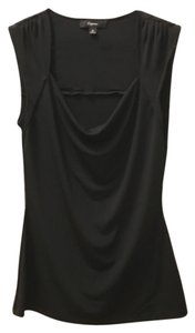 Express Draped Sleeveless Top Black