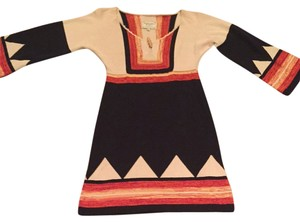 Scoop NYC short dress Black/cream/red/burnt Orange on Tradesy