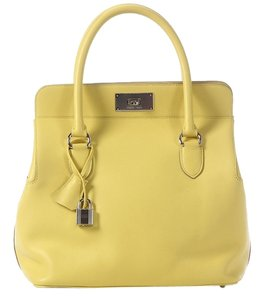 Hermès Yellow Leather Hr.j1209.02 Satchel