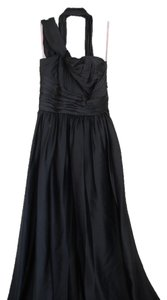 Black Maxi Dress by Monique Lhuillier Sleeveless Asymmetrical