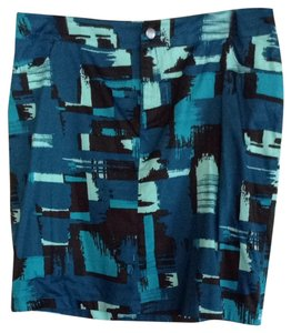 Calvin Klein Pockets Pockets Stretchy Skirt Brown /Blue / Teal