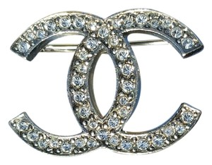 Chanel CHANEL CC Crystal Brooch Pin SALE