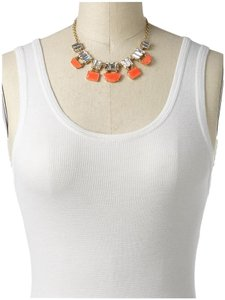 Kate Spade Kate Spade Varadero Tile Short CORAL and Crystal Baguettes Necklace MSRP $148 NWT