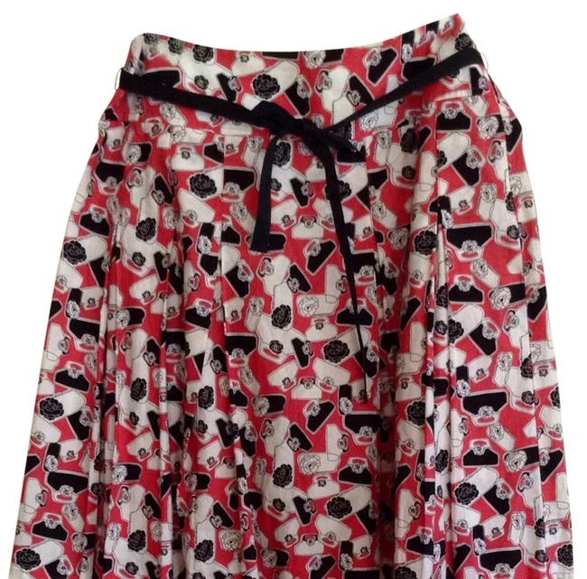 Liz Claiborne Skirt Coral, Black, White
