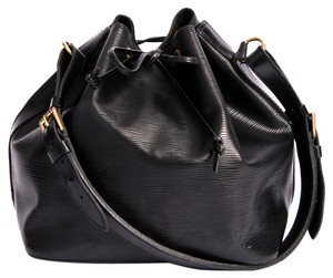 Louis Vuitton Epi Noe Drawstring Bucket Tote in Black