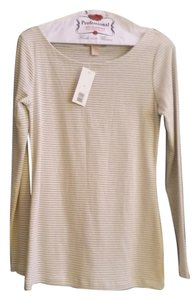 Banana Republic Top Silver and Beige