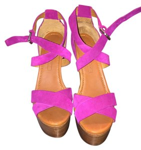 Ralph Lauren Fuschia Platforms