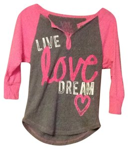 Aéropostale Top Pink and Gray