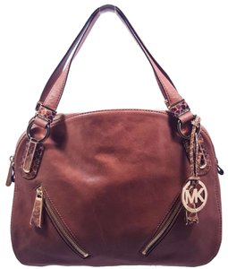 Michael Kors Matilda Leather Satchel in Mushroom