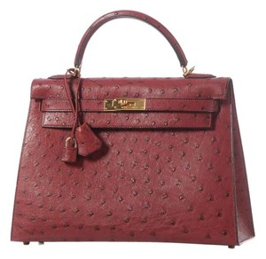 Hermès Ostrich Leather Hr.j1112.06 Satchel