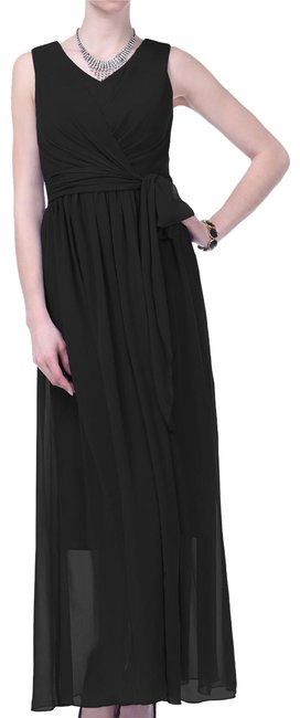 Preload https://item4.tradesy.com/images/black-graceful-sleeveless-waist-tie-formal-long-night-out-dress-size-16-xl-plus-0x-108808-0-2.jpg?width=400&height=650