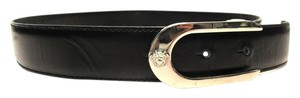 Versace Versace Black Leather Belt w/ Silver Medusa Head Buckle #30078 Size Small Belts