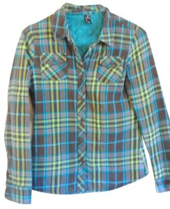 Zumiez Plaid Flannel Shirt Jacket Button Down Shirt Multi-color