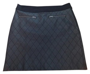 Ann Taylor Faux Leather Skirt Black