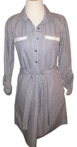 Red Camel short dress blue and white Striped Button Down on Tradesy