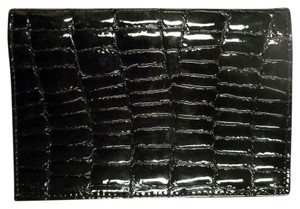 St. John ST. JOHN EXCLUSIVE LEATHER PASSPORT COVER PYTHON BLACK CROCO PRINT!