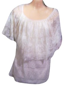 Style & Co Lace Blouse Dress Summer White Top white lace