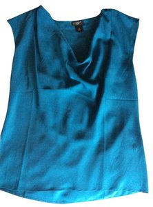 Ann Taylor Career Office Work Blue Top Blue/turquoise
