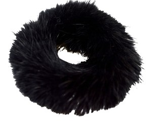 Luxury Furs NEW!! LUXE! REAL Mink Black Hair Ponytail Holder FREE SHIPPING