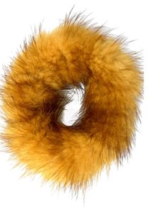 Luxury Furs Reserved. NEW!! LUXE! REAL Mink Tan Hair Ponytail Holder FREE SHIPPING