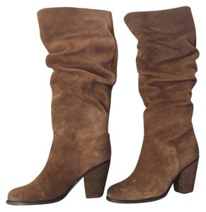 Arturo Chiang Suede Heel Winter Soft Smooth Ac Leather Lining Leather Brown Boots