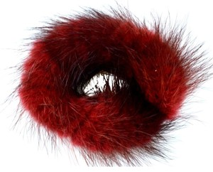Luxury Furs B2G1 free*NEW!! LUXE! REAL Mink Red Hair Ponytail Holder FREE SHIPPING