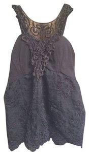 C J Dark Lace Lace Top Dark Purple