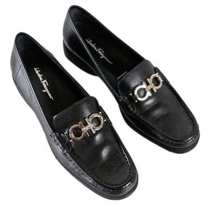 Salvatore Ferragamo Leather Loafers Leather Loafers Comfort Loafers Vintage Black Flats