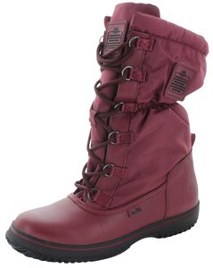 Coach Leather/textile Upper; Man Made Sole; Lining: Textile: Faux Curly Shearling Polyester Bordo Boots