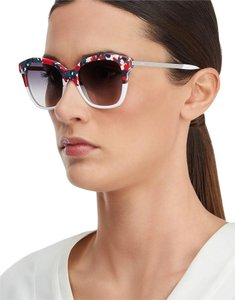Fendi NEW Fendi Galassia FF 0089/S White Wayfarer Abstract Multicolor Sunglasses