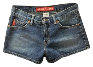Guess Denim Distressed Mini/Short Shorts Medium Blue