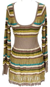 Free People short dress Crochet Striped on Tradesy