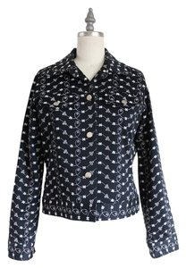 Donna Rae Top Dandelion black white floral print Jacket