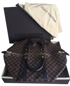 Louis Vuitton Keepall 50 Damier Ebene Travel Bag