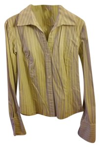 Gap Button Down Shirt Green Striped
