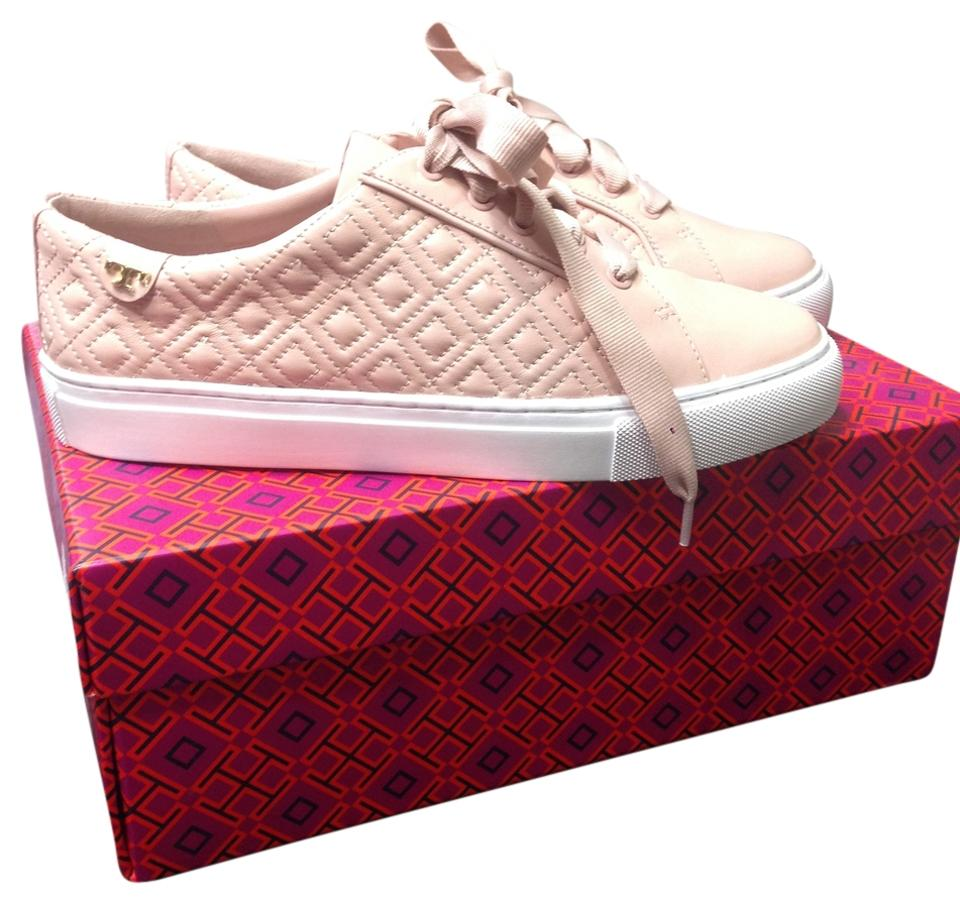 cad99162261c2 Tory Burch Satchet Pink (Blush) Marion Quilted Lace Up Sneaker Sneakers