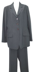 Anne Klein ANNE KLEIN STRIPES BUTTON DOWN 2-PC. BLEND PANT SUIT 16