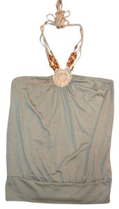 Other Boho Bohemian Beaded Olive Green Halter Top