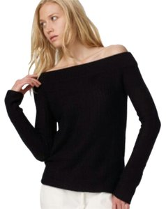 James Perse Open Shoulder Top Black