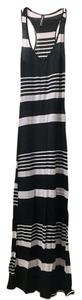 Black & White Maxi Dress by Casa Lee Stretchy Maxi