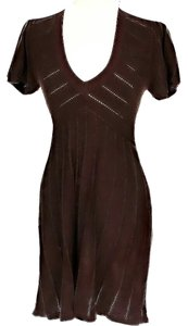 BCBGMAXAZRIA short dress Brown Knit on Tradesy