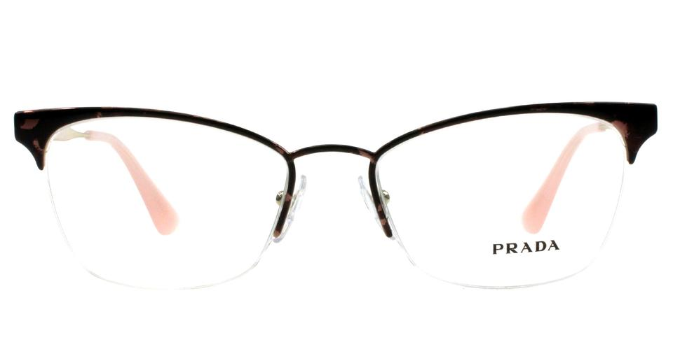 Prada Pink Gold Women\'s Semi-rimless Cat Eye Sunglasses - Tradesy