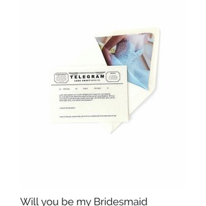 Will You Be My Bridesmaid Telegram