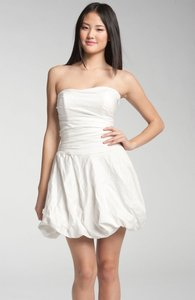 Nicole Miller Bubble Hem Crinkled Cotton Dress Wedding Dress